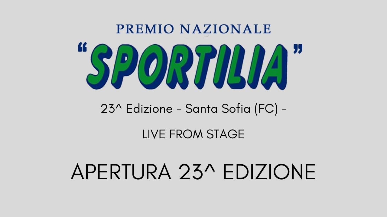Premio Sportilia 2019 - Live From Stage: Apertura della 23^ Edizione -