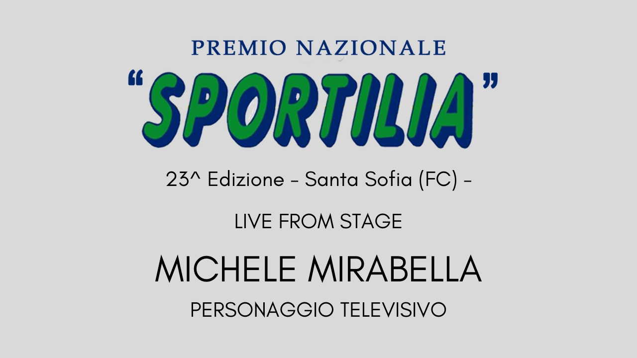 Premio Sportilia 2019 - Live From Stage: Michele Mirabella-