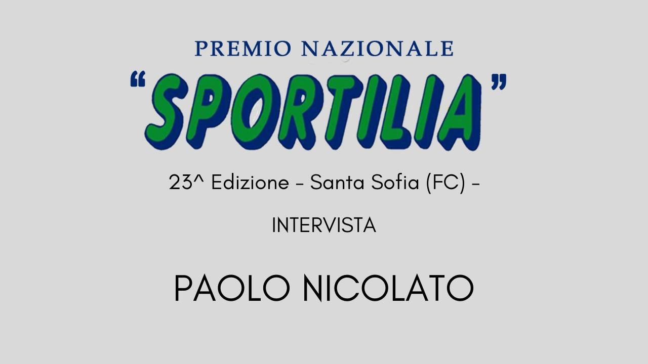 Premio Sportilia 2019 - Intervista a Paolo Nicolato -