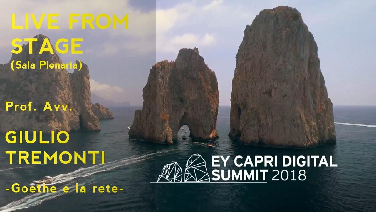 #EYCapri 2018 -Live From Stage Avv. Prof. Giulio Tremonti, Goethe e la rete-