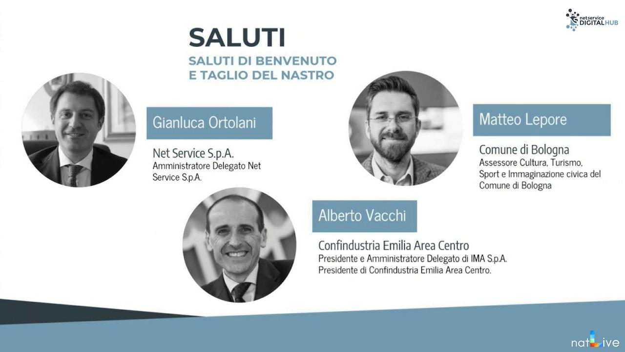 Inaugurazione Net Service Digital Hub Bologna -Diretta Parte 1-