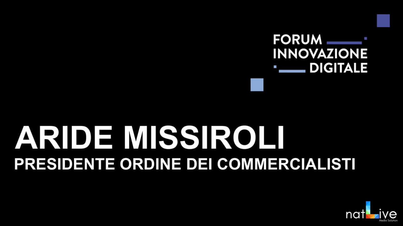 Forum Innovazione Digitale -Live From Stage: Aride Missiroli-