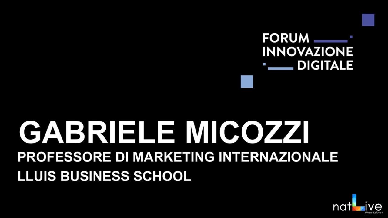 Forum Innovazione Digitale -Live From Stage: Gabriele Micozzi-