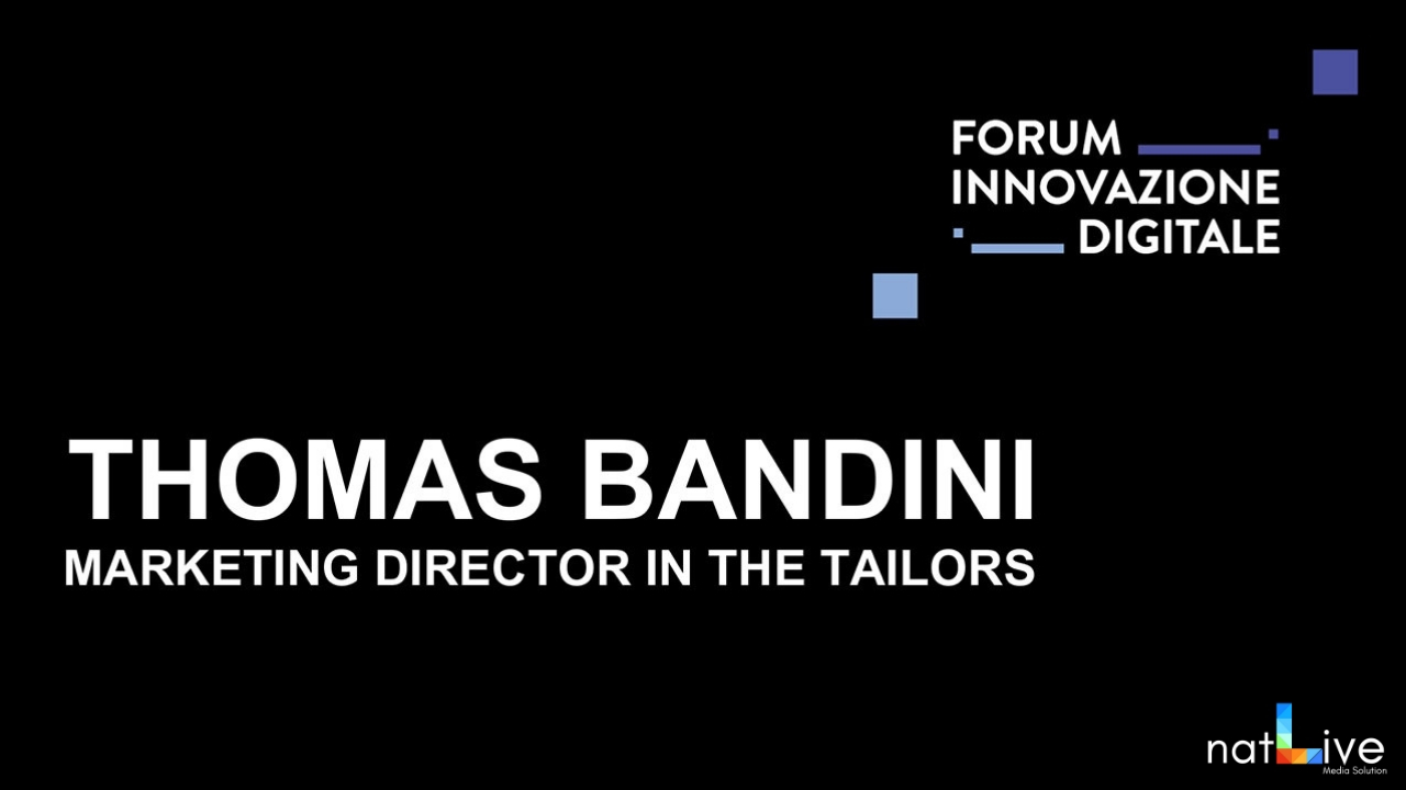 Forum Innovazione Digitale -Live From Stage: Thomas Bandini-