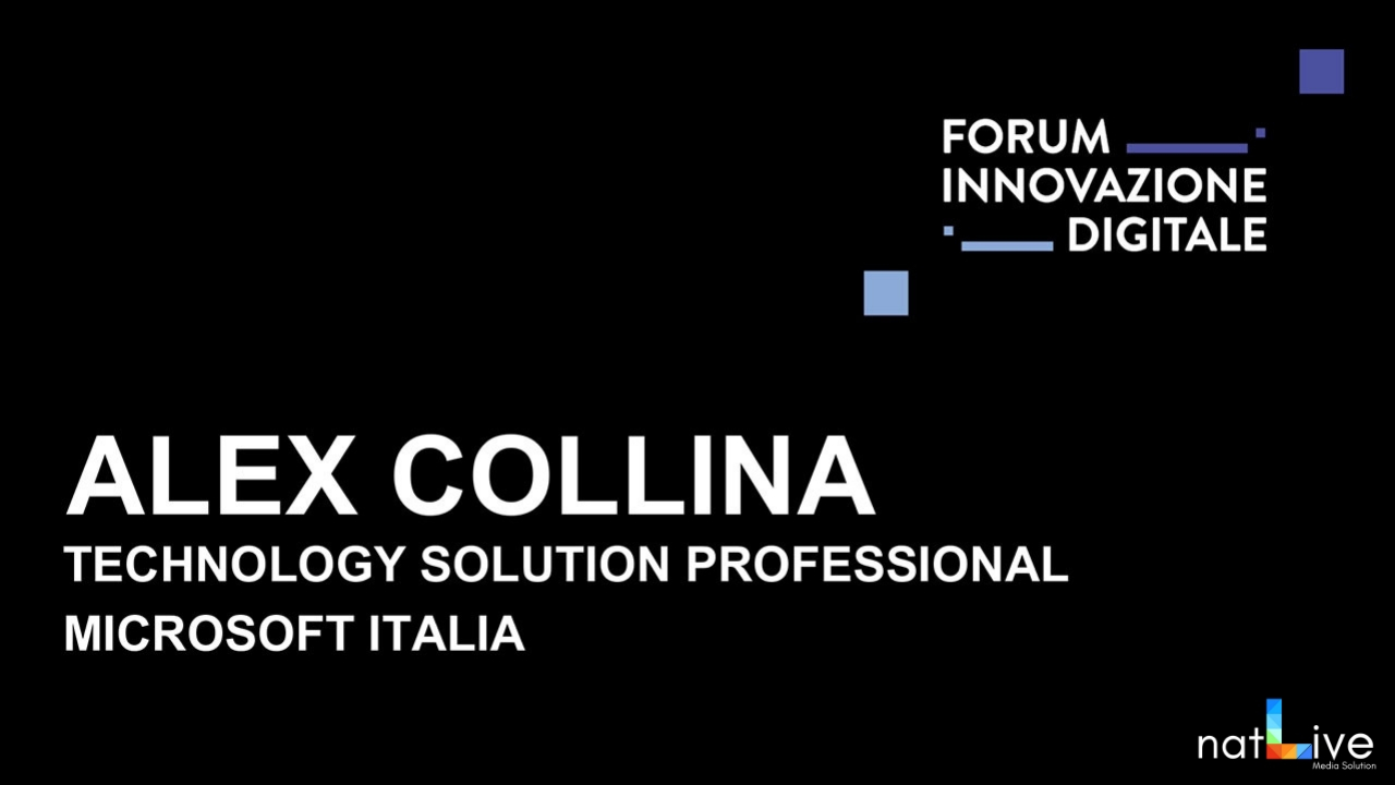 Forum Innovazione Digitale -Live From Stage: Alex Collina-