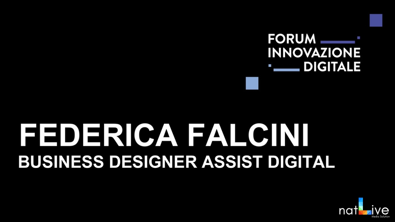 Forum Innovazione Digitale -Live From Stage: Federica Falcini-
