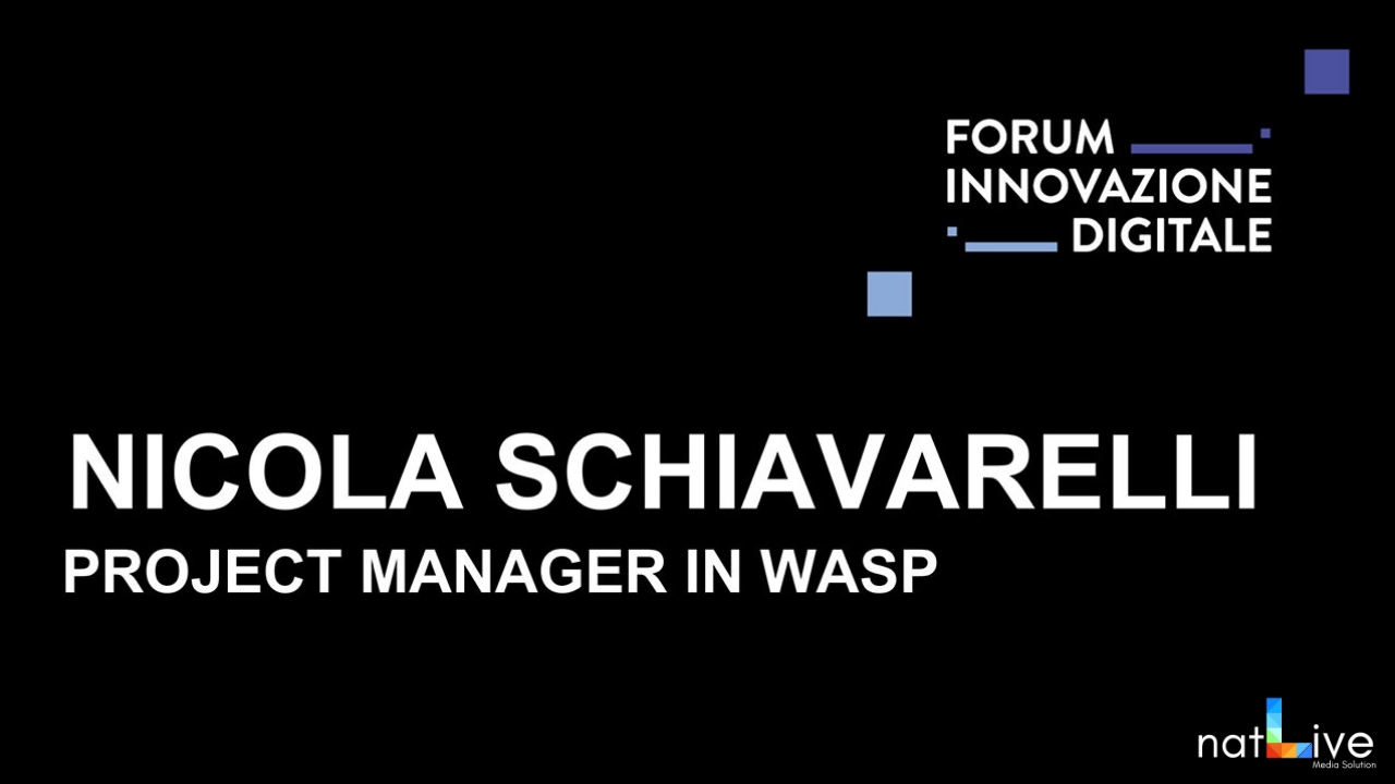 Forum Innovazione Digitale -Live From Stage: Nicola Schiavarelli-