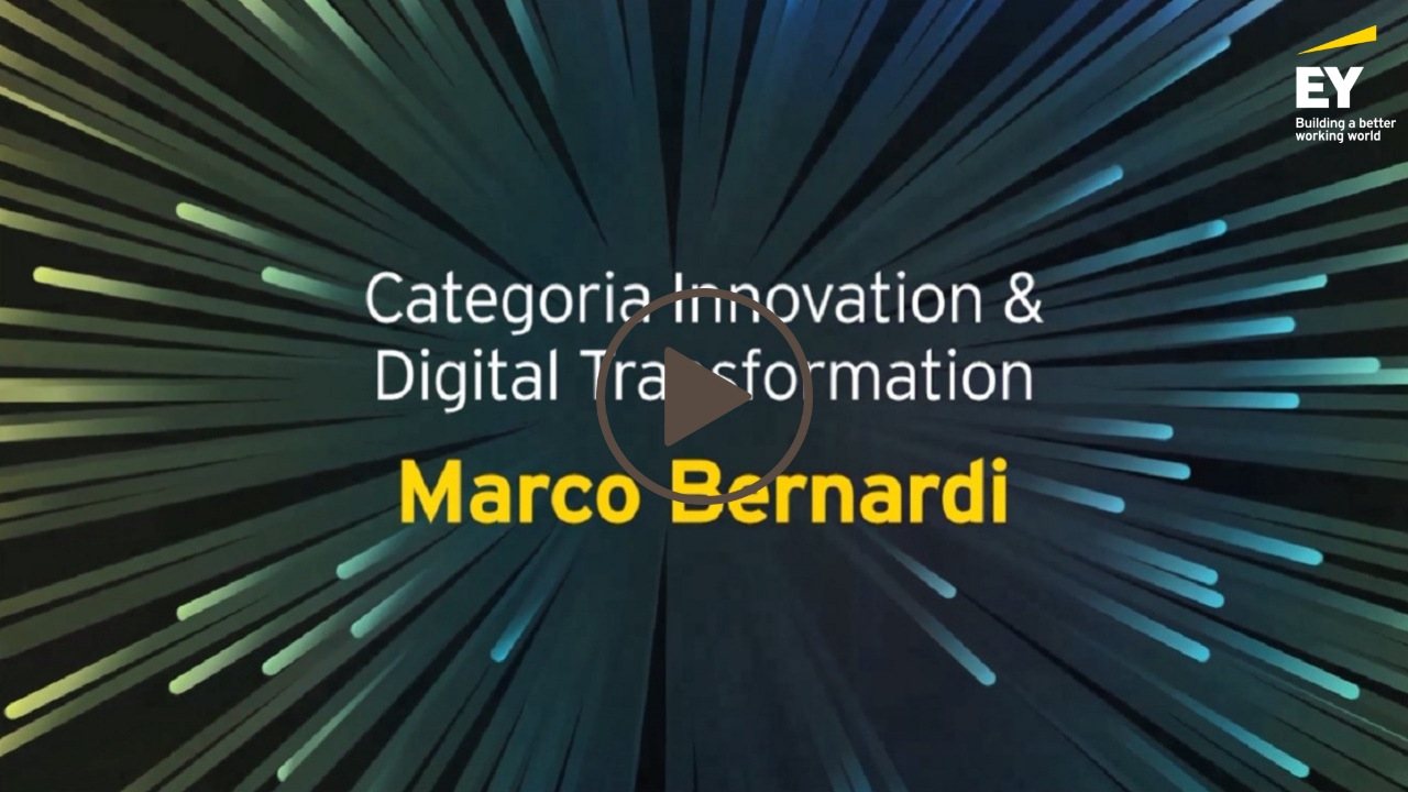 EY -Imprenditore dell'anno 2018 (EOY)- Marco Bernardi- Categoria Innovation & Digital Trasformation-