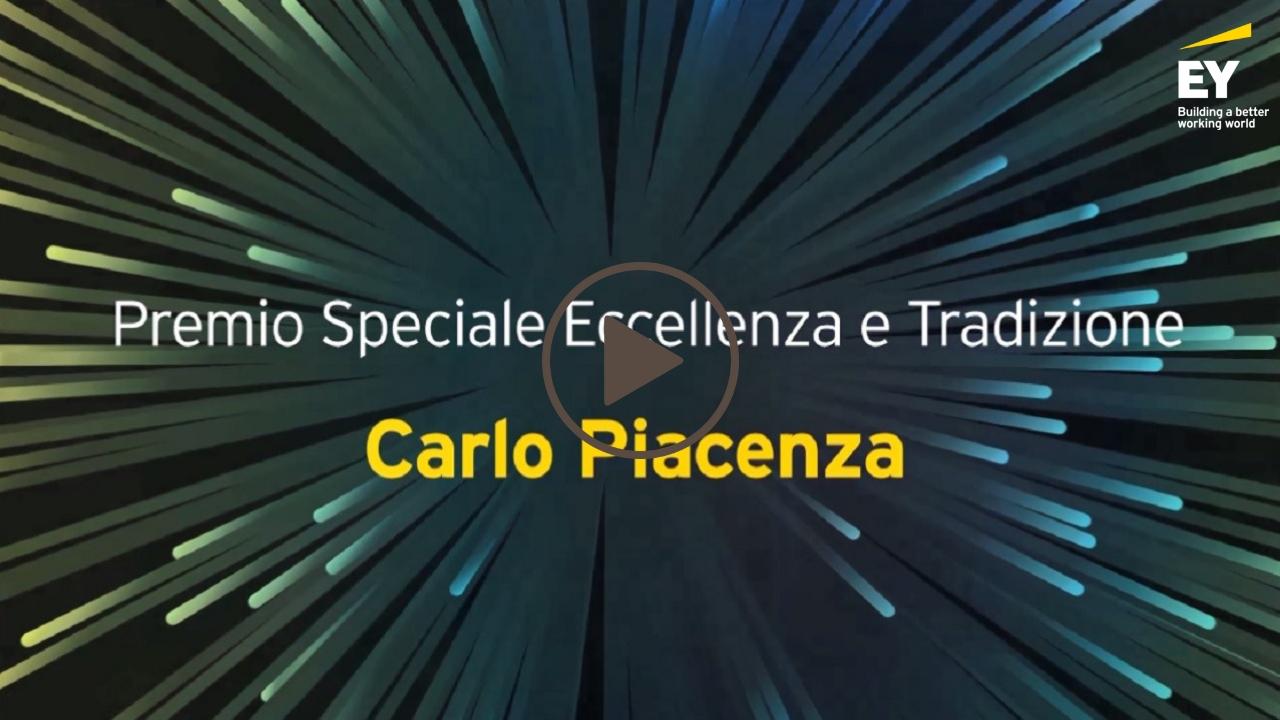 EY -Imprenditore dell'anno 2018 (EOY)- Carlo Piacenza- Premio Speciale Eccellenza e Tradizione-