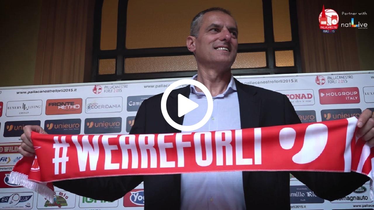 Unieuro Forlì -Presentazione Coach Dell'Agnello-