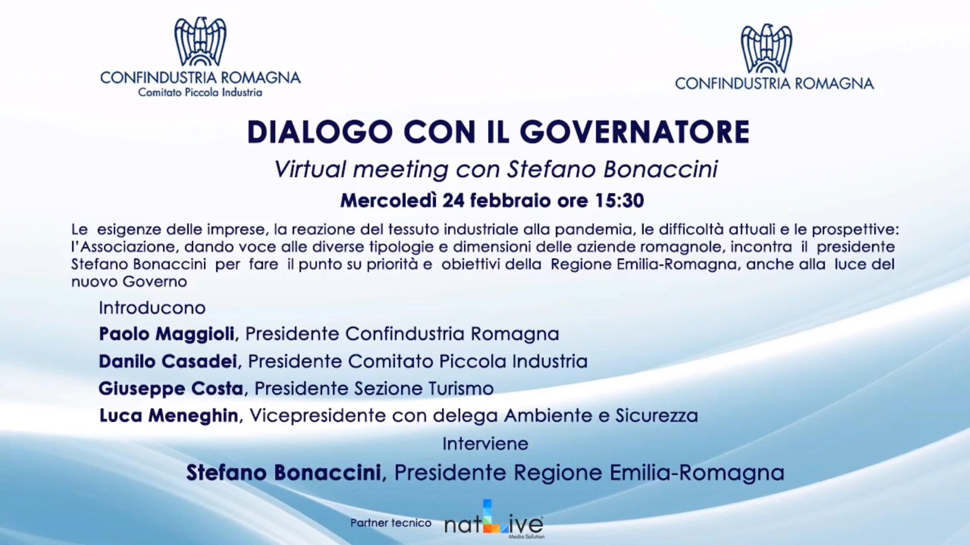 Confindustria Romagna - Dialogo con il governatore