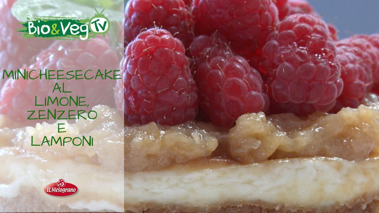 Minicheesecake Limone, Zenzero e Lamponi