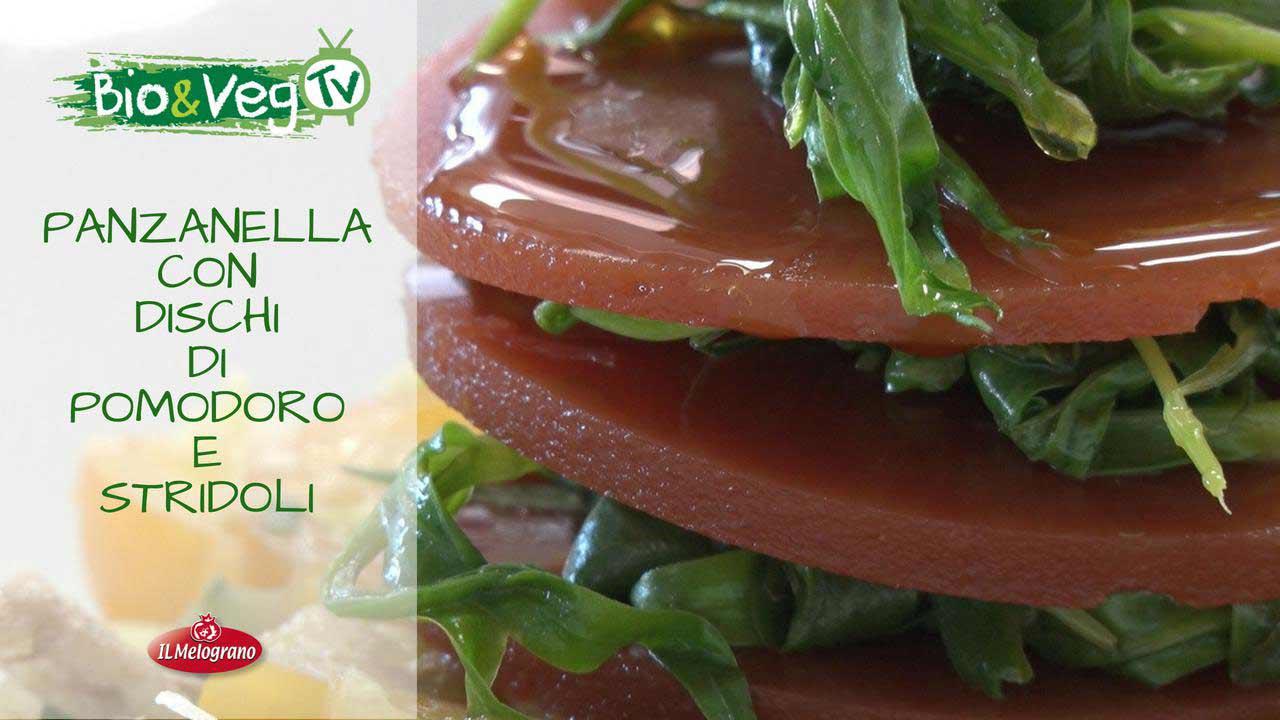 Panzanella con Dischi di Pomodoro e Stridoli