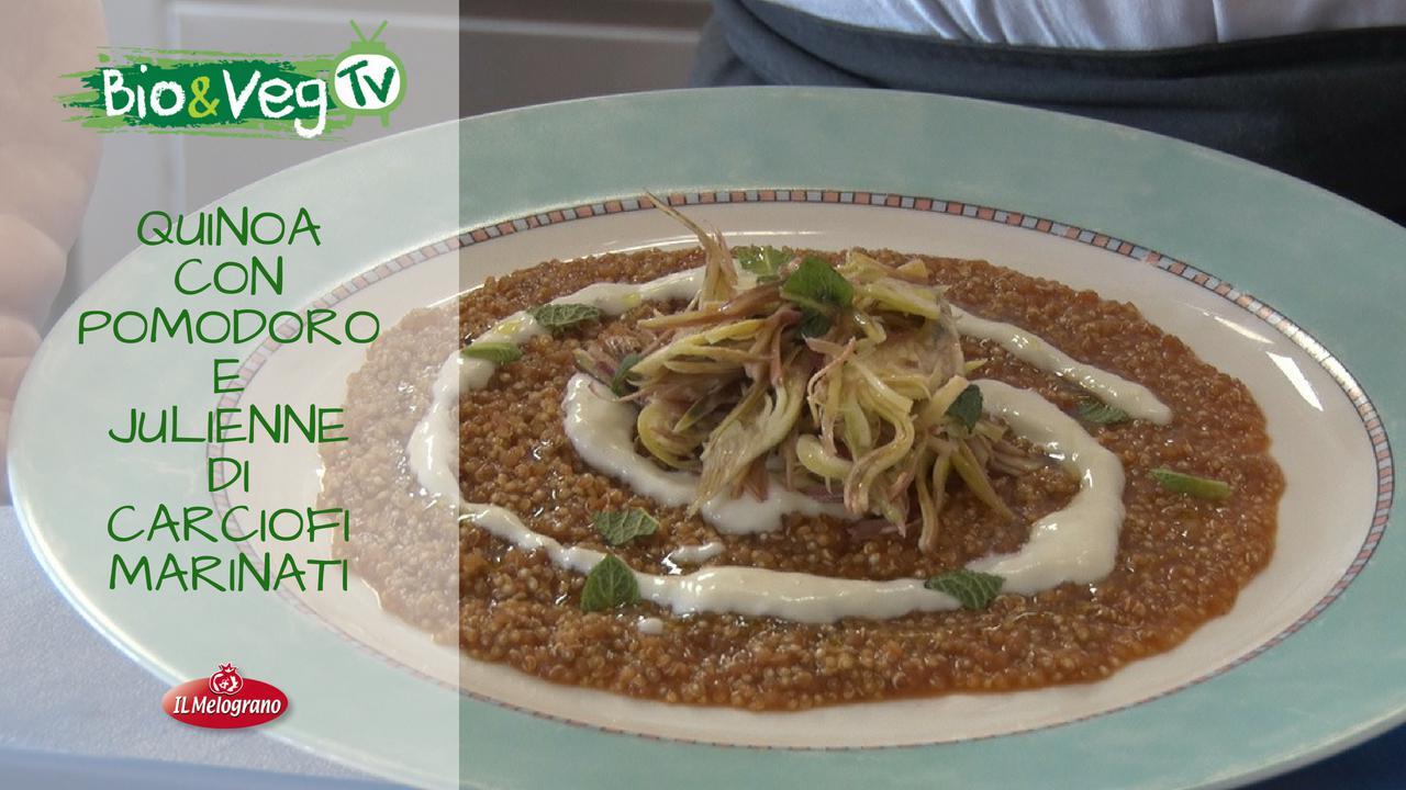 Quinoa al Pomodoro con Julienne di Carciofi Marinati