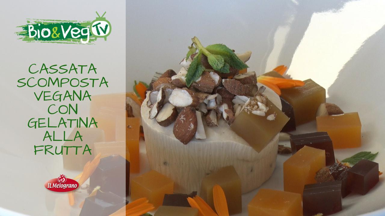 Cassata Scomposta Vegana con Gelatine alla Frutta
