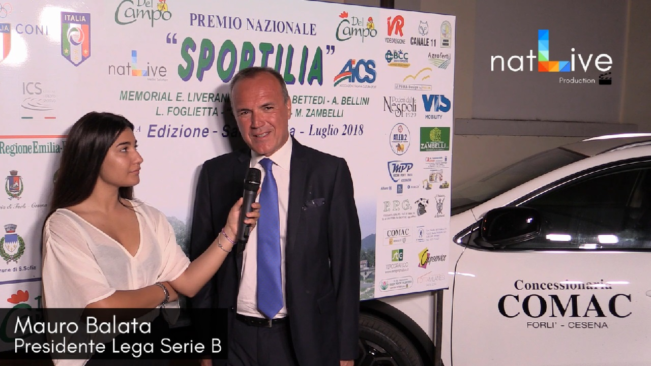 Premio Sportilia 2018 - Mauro Balata - Presidente Lega Nazionale Serie B