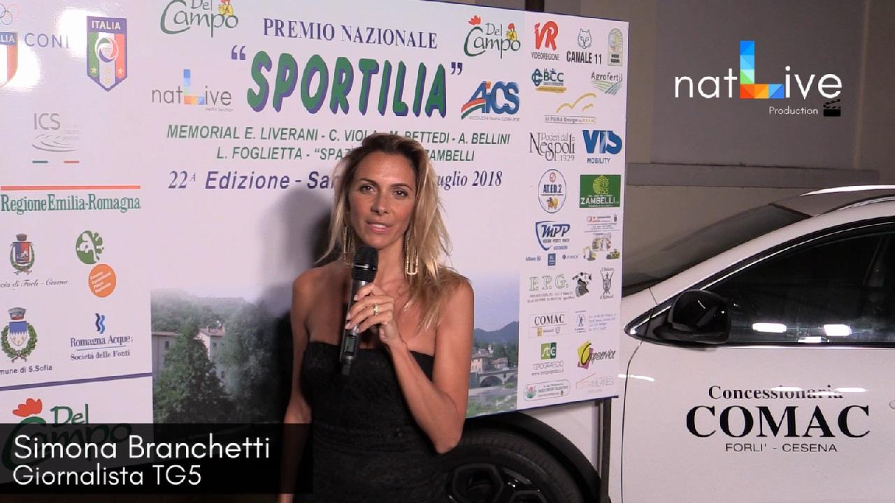 Premio Sportilia 2018 - Simona Branchetti - Giornalista TG5
